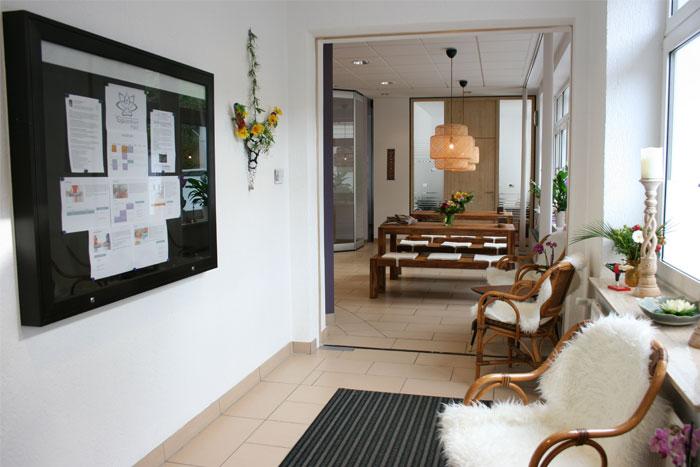Eintrittsbereich Yogazentrum Harz