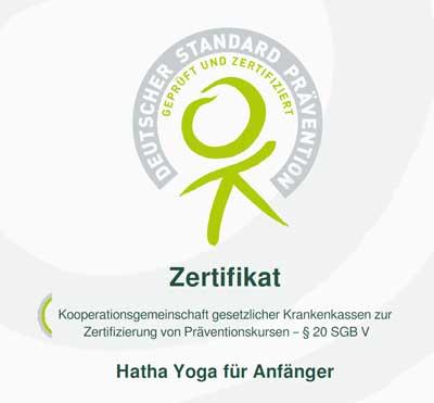 Zertifizierte Präventionskurs - Yogazentrum Harz